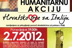 """Humanitarna akcija """"Hrvatsko srce za Italiju"""", Vukovar, 2.7.2012."""
